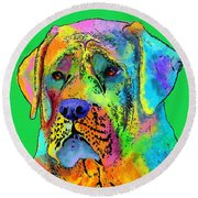 Mastiff Round Beach Towel
