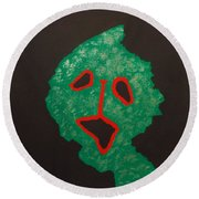 Round Beach Towel featuring the painting Masuku 2 by Roberto Prusso