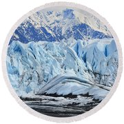 Matanuska Glacier Round Beach Towel by Andrew Matwijec