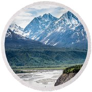 Matanuska River  Round Beach Towel