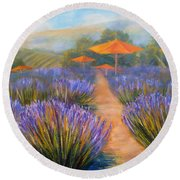 Matanzas Winery Round Beach Towel
