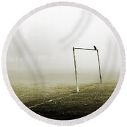 Match Abandoned Round Beach Towel