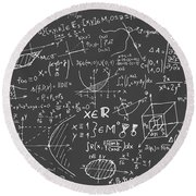 Maths Blackboard Round Beach Towel