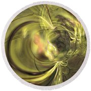 Maturation - Abstract Art Round Beach Towel