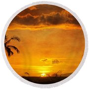 Maui Sunset Dream Round Beach Towel