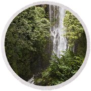 Maui Waterfall Round Beach Towel