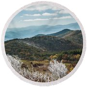 Round Beach Towel featuring the photograph Max Patch In Appalachian Mountains by Debbie Green