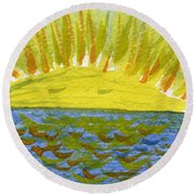 May A Million Smiles Return To You Round Beach Towel