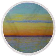 May Sunset Round Beach Towel