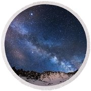 Mayflower Gulch Milky Way Round Beach Towel