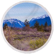 Mazama From Wolf Creek Round Beach Towel