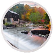 Mcconnell's Mill Fall  Round Beach Towel