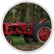 Mccormick Farmall Round Beach Towel