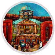 Mcgill Gates Montreal Round Beach Towel