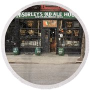 Mcsorley's Old Ale House Round Beach Towel by Doc Braham