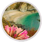 Mcway Falls-3am Adventure Round Beach Towel