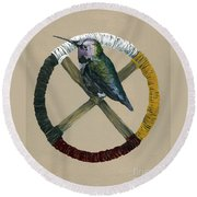 Medicine Wheel Round Beach Towel