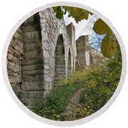 Medieval Town Wall Round Beach Towel