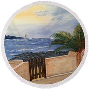 Mediterranean Bbmb0001 Round Beach Towel by Brenda Brown