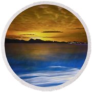 Mediterranean Sunrise Round Beach Towel