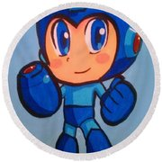 Mega Man Round Beach Towel
