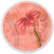 Melancholoy Round Beach Towel