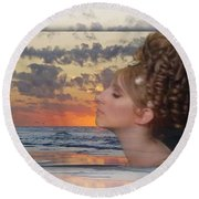 Melinda Round Beach Towel
