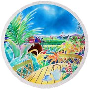 Mellow Afternoon Round Beach Towel
