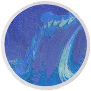 Round Beach Towel featuring the painting Melody by Mike Breau