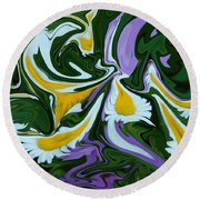 Melting Daisies Round Beach Towel by Aimee L Maher Photography and Art Visit ALMGallerydotcom