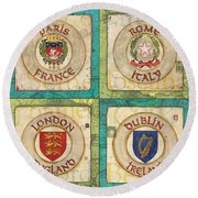 Melting Pot Patch Round Beach Towel