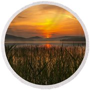 Round Beach Towel featuring the photograph Peace Of Mind by Rose-Maries Pictures