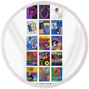Posters Of Music Round Beach Towel