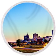 Memphis Morning - Bluff City - Tennessee Round Beach Towel