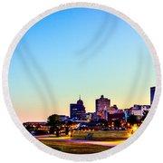 Memphis Morning - Bluff City - Tennessee Round Beach Towel by Barry Jones