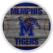 Memphis Tigers Round Beach Towel
