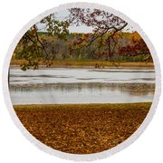 Mendon Ponds Round Beach Towel