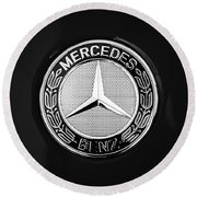 Mercedes-benz 6.3 Gullwing Emblem Round Beach Towel