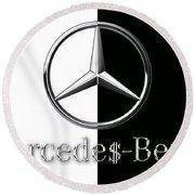 Mercedes-benz Logo Round Beach Towel