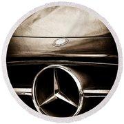 Mercedes-benz Grille Emblem Round Beach Towel