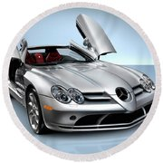 Mercedes Benz Slr Mclaren Round Beach Towel