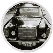 Mercedez Benz Round Beach Towel