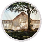 Merchants Hall Round Beach Towel