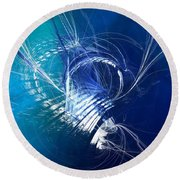 Mercury In Cancer - Cardinal Water Round Beach Towel by Menega Sabidussi