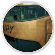 Mercury Mark 20 Outboard Motor Round Beach Towel
