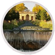 Meridian Hill Park Waterfall Round Beach Towel by Stuart Litoff