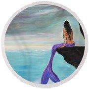 Mermaid Oasis Round Beach Towel
