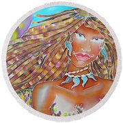 Mermaid Queen Round Beach Towel
