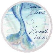 Mermaid Tail I Round Beach Towel