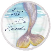 Mermaid Tail II Round Beach Towel